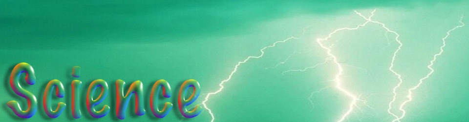 Science banner with lightning